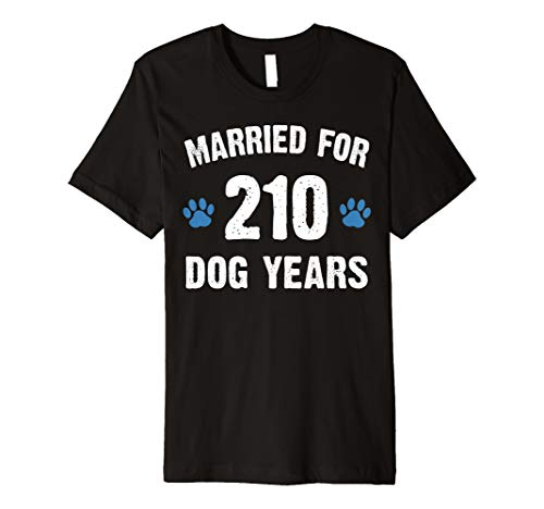 Married For 210 Dog Years 30th Wedding Anniversary T Shirt