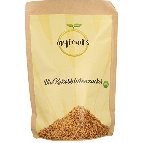 myfruits Bio Kokosblütenzucker - goldfarben - 1kg Big Pack / Nachfüllpack DE-ÖKO-003...