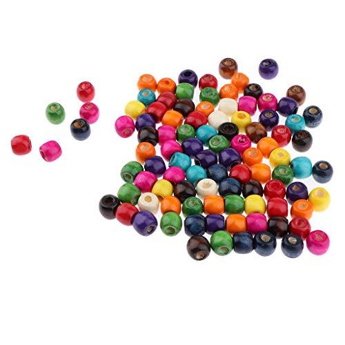 Fenteer 100 Pièces Perles Dreadlock Tresser Coiffure à Extensions de Cheveux - Anneau Tube à Bricolage DIY de Bijoux/Bracelet / Colliers