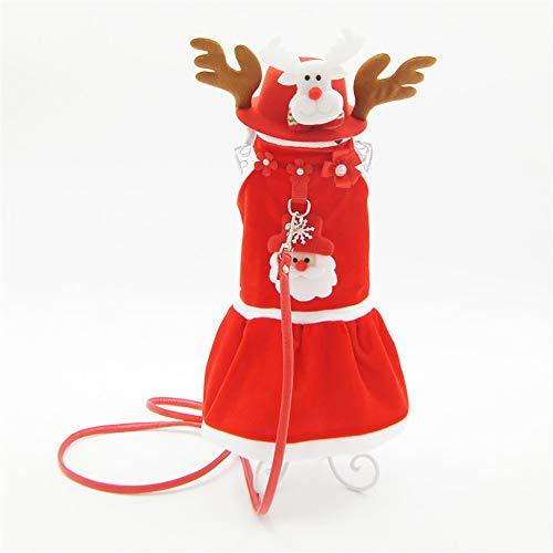 Weihnachten Paar Kostüm - QNMM Cute Puppy Outfits Weihnachten Santa Claus Kostüm Hund Weihnachten Towable Paar Tragen Geeignet Für Kleine Und Mittlere Haustiere,XS