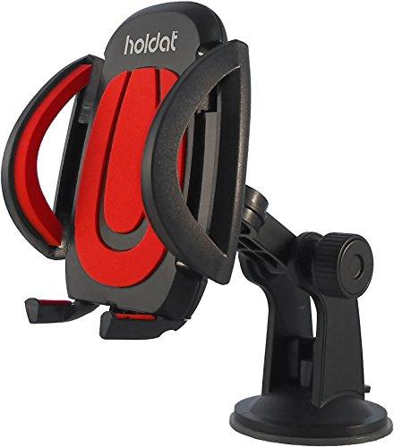HOLDAT Handyhalterung mit Saugnapf für Auto Windschutzscheibe - Universal-Handyhalter 360° drehbar mit Kugelgelenk - für iPhone, Samsung, Nexus, LG, Huawei, Sony und Alle anderen Smartphones- LKW,PKW