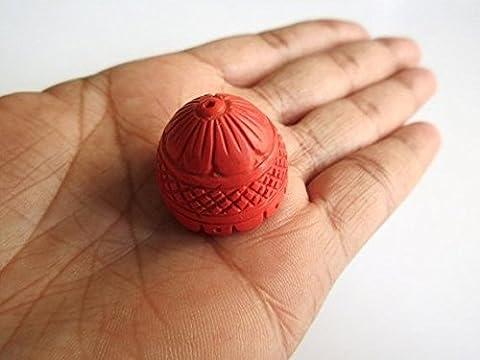 Lustre capuchon Corail Pendentif trouver, trouver, Corail Boucles d'oreilles, sculpté à la main, en filigrane Apprêt, Sculpture sur pierre, pierre précieuse à