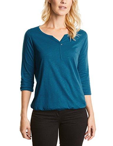 CECIL Damen Langarmshirt 311362 Amelie, Blau (Bright Petrol Blue 10972), Medium