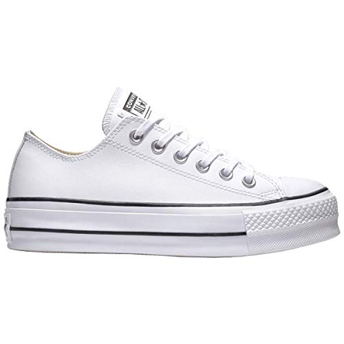 Converse Damen Chuck Taylor All Star Lift CLEAN Sneakers, Weiß (White/Black/White 102), 37 EU - Vintage Converse Sneakers