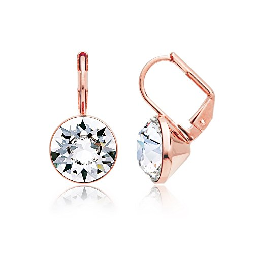 Rose Gold Drop Earrings Amazoncouk