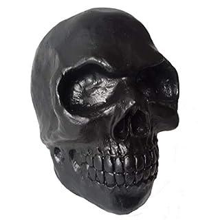 Handgefertigt Schutzkappe Anhängerkupplung Abdeckung Totenkopf Schädel Kugelkopf Abdeckkappe versch. Farben AHK (schwarz matt)