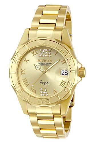 Invicta 14397 Angel Reloj para Mujer acero inoxidable Cuarzo Esfera oro