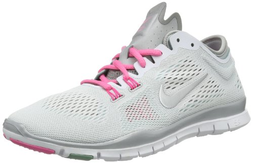 Nike Free 5.0 Tr Fit 4 629496-100 Damen Fitnesschuhe Weiß (White/Metallic Silver-Diffused...
