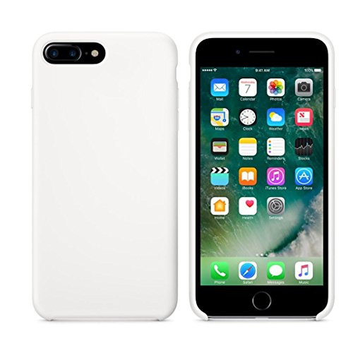 Ouneed® Hülle für iphone 7 plus 5.5 Zoll , High Quality Leather Slim Case Cover Shell für iPhone 7 Plus 5.5 Zoll (5.5 Zoll, Weiß) Weiß