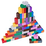 Strictly Briks - set da 84 mattoncini per costruzioni grandi #1 - compatibili con tutte le principali marche - nero, blu, marrone, trasparente, grigio, verde ed altro