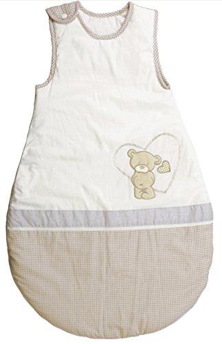 Schlafsack, 70cm, Babyschlafsack ganzjahres/ganzjährig, aus atmungsaktiver Baumwolle, Schlummersack unisex, Kollektion 'Liebhabär'