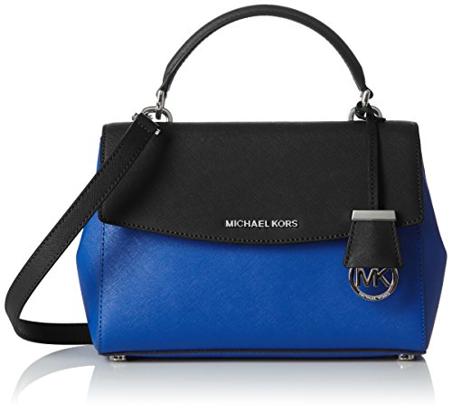 Michael KorsAva Small Tophandle - Borsa a mano Donna , Multicolore (Mehrfarbig (electric Blue/black)), taglia unica