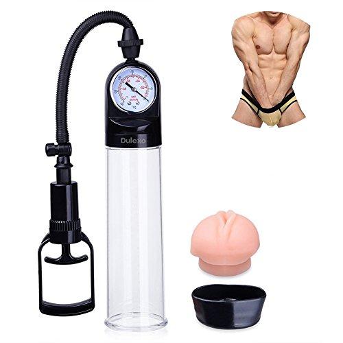 Dulexo Penispumpe, Vakuum Unterdruck potenzfördernde Erektionshilfe für Sextraining, Massage, Potenzsteigerung, Penisvergrößerung, Pumpmeister Sexspielzeug für Männer Masturbation