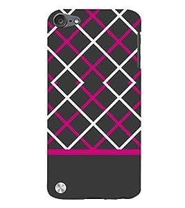 Laser Pattern Design 3D Hard Polycarbonate Designer Back Case Cover for Apple iPod Touch 5