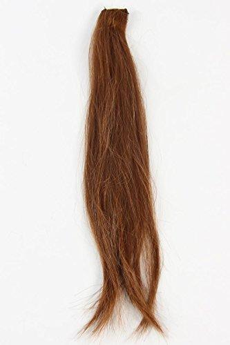 Postiches Femmes marron clair polyester 8 pièces 37 cm