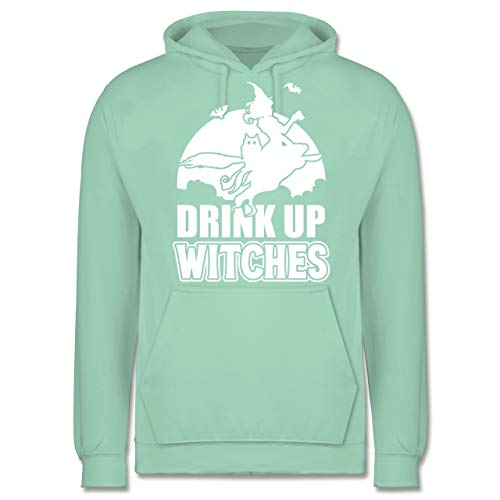 Sprüche - Drink up Witches - 3XL - Mint - JH001 - Herren - Opa Aus Up Kostüm