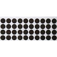 40 Feltrini, Ø 18 mm, marrone, di spessore 3.5 mm, Mobili scivola - protezione antigraffio, (Feltrini Per Mobili)
