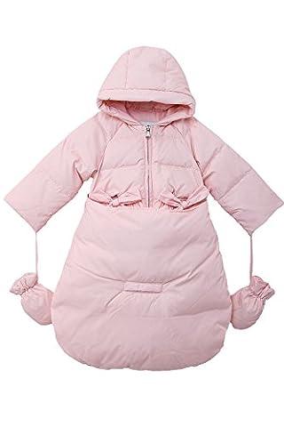 Oceankids Baby Mädchen Neugeboren Daunen Rosa Schneeanzug Kinderwagen Abnehmbares Unterteil 9-12 Monate