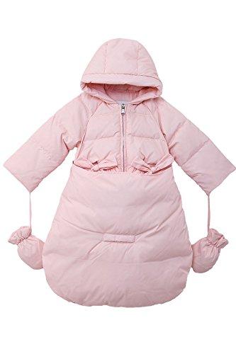 Oceankids rosa Tuta da neve / da passegginoin piuma d'oca per bambine e neonati con parte inferiore staccabile 3-6 Mesi