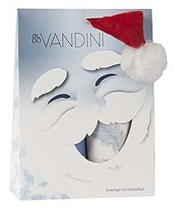 aldoVANDINI CHARMING Weihnachtsmann Geschenkset Damen, Lotion 200ml & Duschgel 200ml + Weihnachtsmütze, vegan, 1er Pack (1 x 1 Set)
