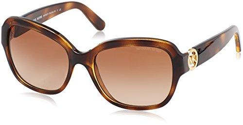 MICHAEL KORS Women's Tabitha III 300613 Sunglasses, Dark Tortoise/Browngradient, 55