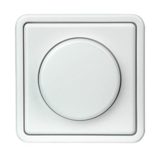 """Kopp Dimmer mit Drehknopf, stufenlos verstellbar, für Glühlampen und Halogenlampen, 40-400W/VA, UP, Dimmschalter """"Standard"""" mit Phasenanschnitt, leise, konventionelle Trafos, arktis-weiß, 809702013"""