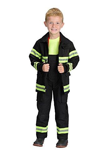 Aeromax Kostüm - Aeromax Jr. New York Fire Fighter Anzug, Schwarz, Größe 2/3. The Best # 1Award Winning Feuerwehrmann Anzug. Den realistischen Bunker Gear für Kinder überall. Wie die Gear.