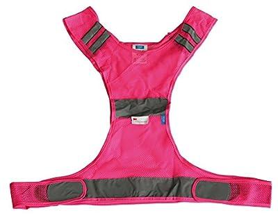 Höga Sicherheitsweste für den Sport Größe XL - 2XL, pink, 110 cm mit Klettverschluss