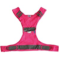 Höga Sicherheitsweste für den Sport Größe S - M, pink, 82 cm mit Klettverschluss preisvergleich bei billige-tabletten.eu