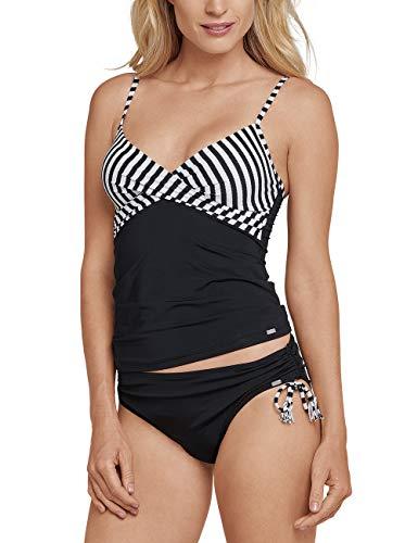 Schiesser Damen Mix & Match Tankini Top Schwimmshirt, Schwarz 000, 42 (Herstellergröße: 042C) - Mix Und Match Tankinis