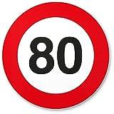 DankeDir! 80. Geburtstag Kunststoff Schild (20 x 20 cm), Geschenk 80 Geburtstag Opa/Oma, Geschenkidee Geburtstagsgeschenk 80ten Geschenk 80er Geburtstagsparty