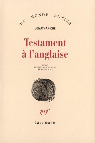 Testament à l'anglaise par Jonathan Coe
