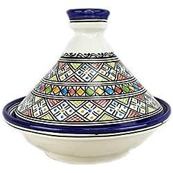 Tajín Tagine marroquí de cerámica pintada a mano de Fes
