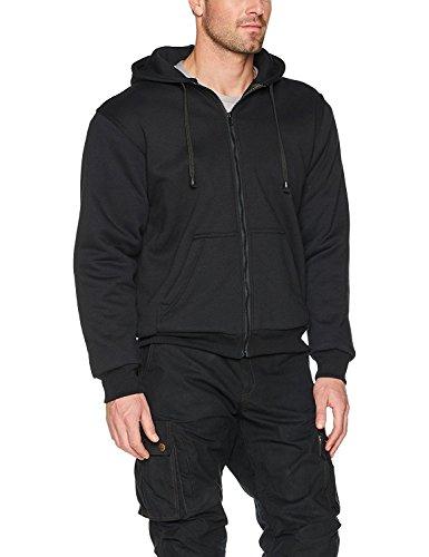 Pullover/Hoody voor motorrijders - 100% Kevlar - Beschermers Zwart - XL (Negative Protektoren)