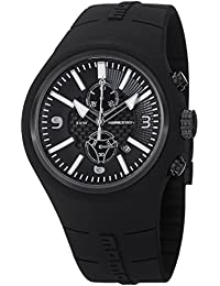 MomoDesign Mirage Men's 47mm Chronograph Black Rubber Date Watch MD1009BK-06BKWT