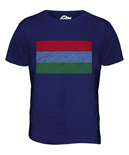 CandyMix Karelien Kritzelte Flagge Herren T Shirt Navy Blau