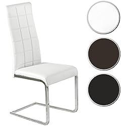 Silla comedor tapizada modelo COMET color blanco - Sedutahome