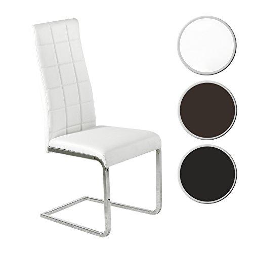 Silla comedor tapizada modelo COMET color blanco -...