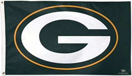 Packers Logo - 90 x 150 cm, + gratis Aufkleber, Flaggenfritze® (Green Bay Packers Fahne)