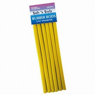 Soft 'N Style Rubber Rod Long Yellow 3/8