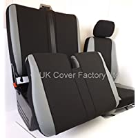 UK Cover Factory FTC- SPORTS TRIM Grey Seat Cover- Grey Pvc Leather Trims- Arm Rest Cover + Tray Access + Twin Storage Access