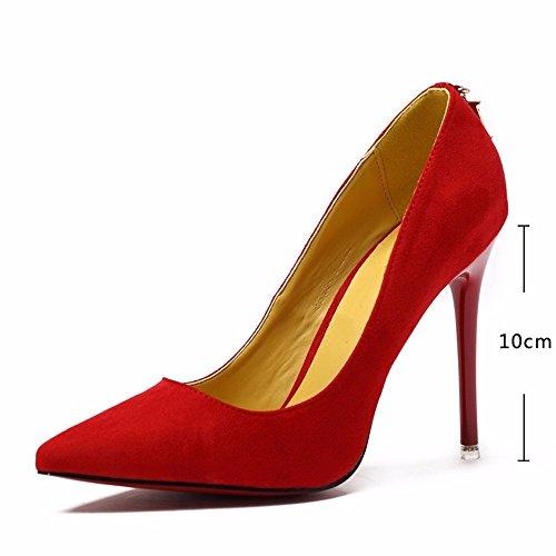 Bene Molla Tacco Molto Alto Attraente Singolo Femmina Rosso Da Per Donna Hxvu56546 Nuovo Autunno Scarpe Lavorare Punto E Con Di 8wBfqY