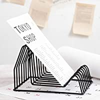 Estantería - Estantería Simple de Hierro Forjado Estantería de Oficina Estante para Almacenamiento de revistas Soporte para Libros creativos (Color : B)