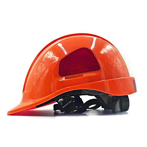 WYNZYSLBD Konstruktionsschutzhelm, 8-Farbiger, Unisexsicherer Und Belüfteter Arbeitshelm - Führungshülse, Netzteil, Architekt, Leiter, Ingenieur (Color : - Orange Farbigen Kostüm