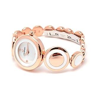 Viceroy 46660-98 – Reloj de señora de cuarzo, correa de acero con tratamiento IP rosa y esmalte blanco
