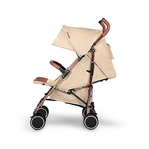 Ickle Bubba Discovery Compact and Lightweight Stroller with Rose Gold Frame, Sand