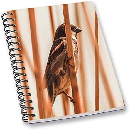 oiseau imprimé portable portable portable marron a5 feuille de papier journal lisse journal pour école, bureau stationnaire | Coût Modéré  cb6def