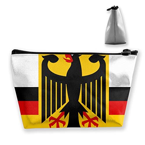 Deutsche Flagge Mit Adler Tixing Trapez Reise Make-Up Tasche Kosmetiktaschen 7x12x22 CM - Adler Satin
