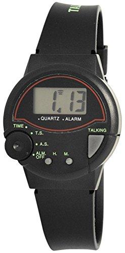 Excellanc Herren-Sprechende Uhr mit Kautschukband 245000000001
