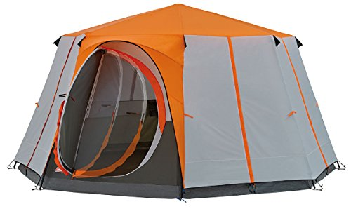 Coleman Octagon für 8 Personen Zelt, orange, one Size